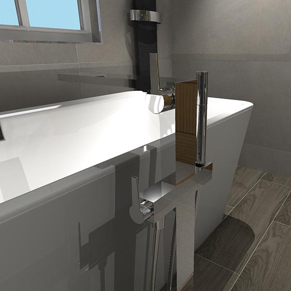 Bathroom Design CAD Drawing