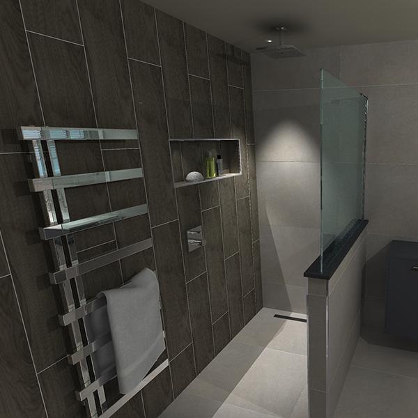 Wetroom Design CAD Drawing